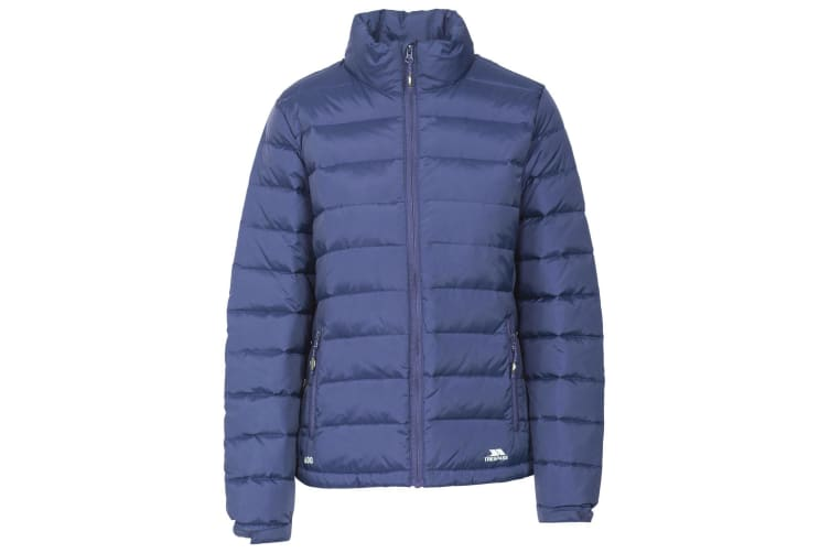 Trespass Womens/Ladies Letty Full Zip Up Down Jacket (Navy) (XL)