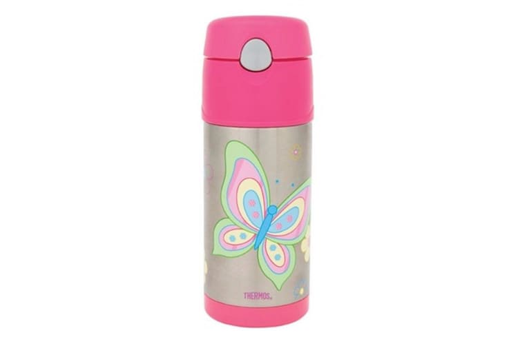 Thermos FUNtainer Stainless Steel Vacuum Insulated Drink Bottle Butterfly 355ml