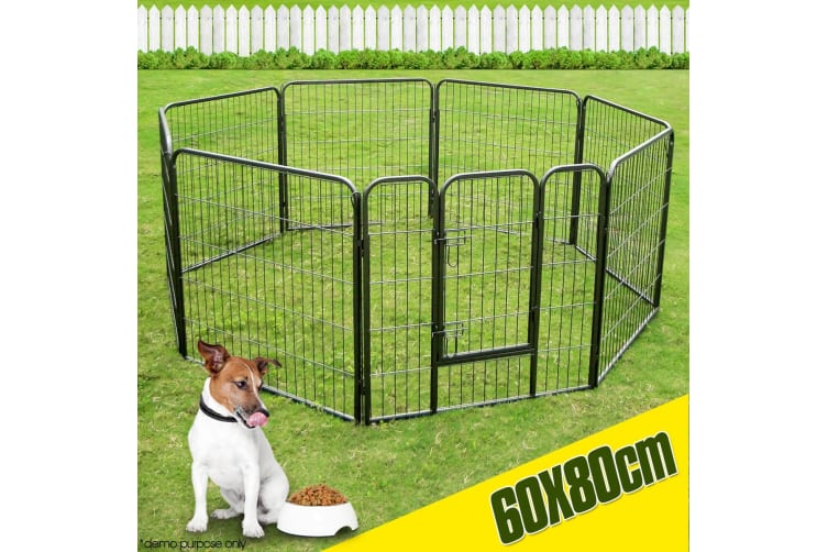 Pet Dog Enclosure Fence with 8 Panels