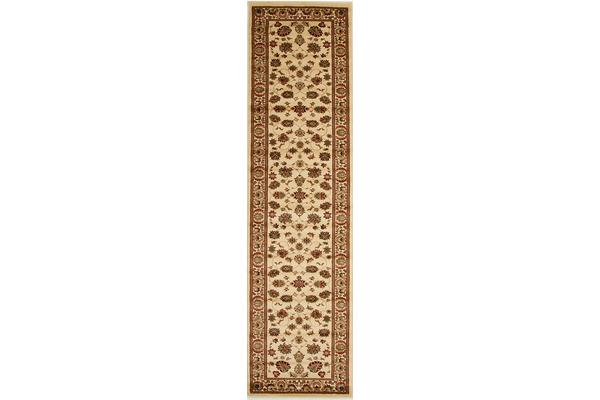 Traditional Floral Pattern Runner Ivory 400x80cm