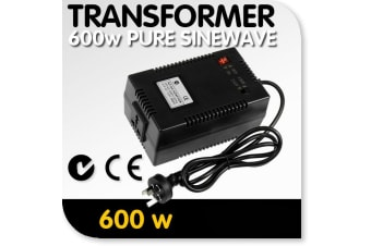 Sinewave Step-Down Transformer: 240v to 120v, 600 watts (4.5 amps)