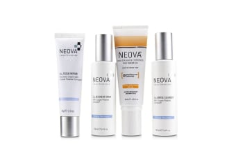 Neova Clinical Recovery Post Procedure Cure System: Cu3 Gentle Cleanser 100ml + Cu3 Tissue Repair + 56g + Cu3 Recovery Spray 100ml + Silc Sheer 2.0 Photo Finish Tint SPF 40 74ml + bag 4pcs+1bag