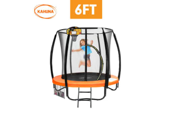 Kahuna Trampoline 6ft with Basketball set - Orange