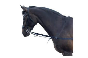 Whitaker Elasticated Side Reins (Navy) (One Size)