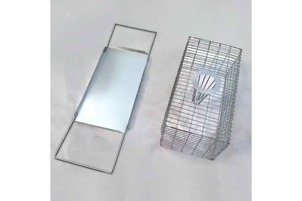 Set of 4 Humane Animal Trap Cage 21 x 13 x 9cm (Silver)