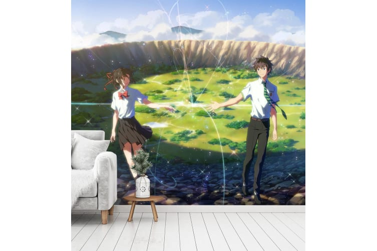 3D Your Name 083 Anime Wall Murals Woven paper (need glue), XXXL 416cm x 254cm (WxH)(164''x100'')