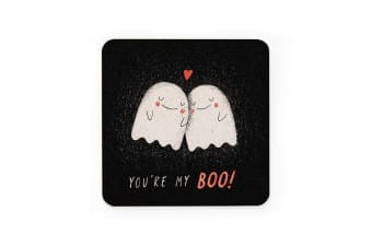 Ohh Deer You're My Boo Coaster (Black/Red/White) (One Size)