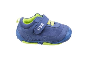 Hush Puppies Childrens/Boys Harry Touch Fastening Leather Trainers (Blue) (3.5 Toddler UK)