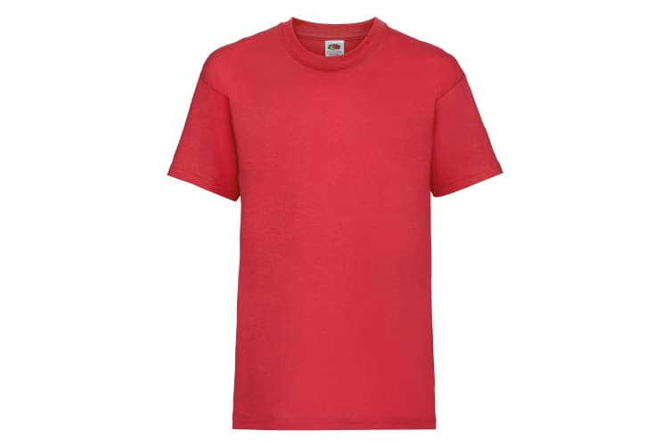 Fruit Of The Loom Childrens/Kids Unisex Valueweight Short Sleeve T-Shirt (Pack of 2) (Red) (9-11)