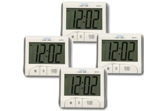 4X Digital Lcd Magnetic Clock Count Down Timer 60Min Alarm Kitchen Sport Dc101