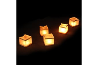 Biodegradable Floating Tealight Candle Water Lanterns 10-Pack