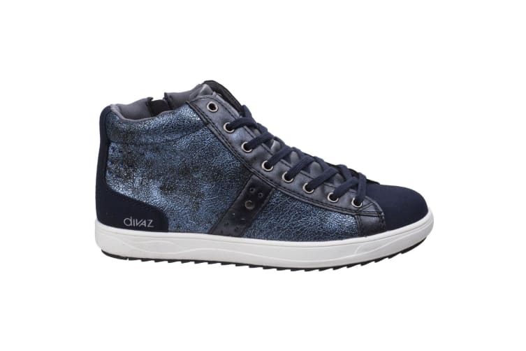 Diva Womens/Ladies Steffy Metallic Sneakers (Navy) (6 UK)