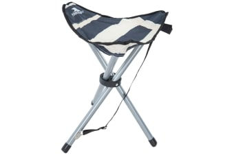 Trespass Ritchie Tripod Camping Stool/Chair (Navy Stripe)