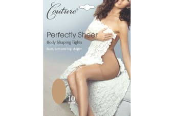 Couture Womens/Ladies Perfectly Sheer Body Shaping Tights (1 Pair) (Natural) (Medium)