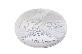 Bubba Blue 90cm Round/Reversible Cotton Play Mat f/ Infant/Toddler Jurassic Grey