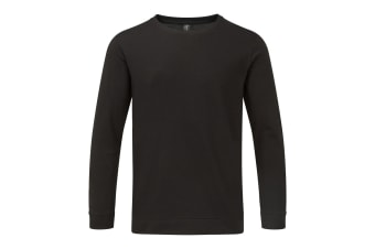 Anvil Unisex Light Terry Crew Sweater (Black) (3XL)