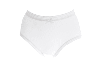 Passionelle Womens/Ladies Ribbed White Cotton Briefs (Pack Of 3) (White) (54-56in)