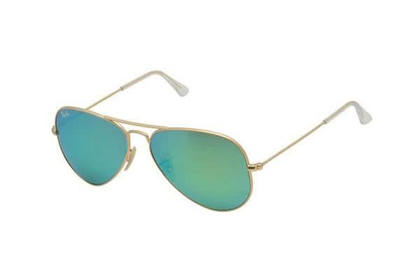 Ray Ban RB3025 AVIATOR - Gold (Green Mirror lens) / 55--14--135 Unisex Sunglasses