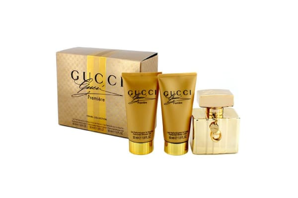 Gucci Premiere Travel Collection Coffret: Eau De Parfum Spray 50ml/1.6oz + Body Lotion 50ml/1.6oz + Shower Gel 50ml/1.76z (3pcs)