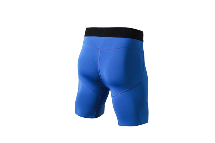 Men'S Compression Shorts Baselayer Cool Dry Sports Tights - Blue Blue XS