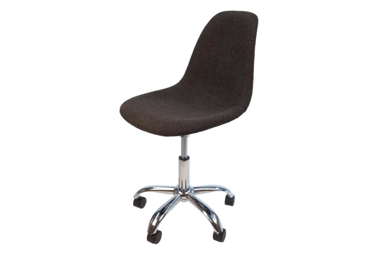 Replica Eames DSW / DSR Desk Chair | Grey / Charcoal Fabric Seat