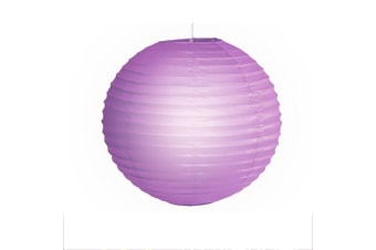 "12"" Paper Lanterns for Wedding Party Festival Decoration - Mix and Match Colours  -  LavenderNo"