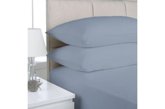 Park Avenue 175GSM Egyptian Cotton Flannelette Queen Sheet Set - Indigo