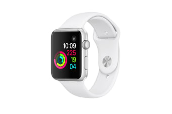 Apple Watch Series 1 (42mm, Silver, White Sport Band)