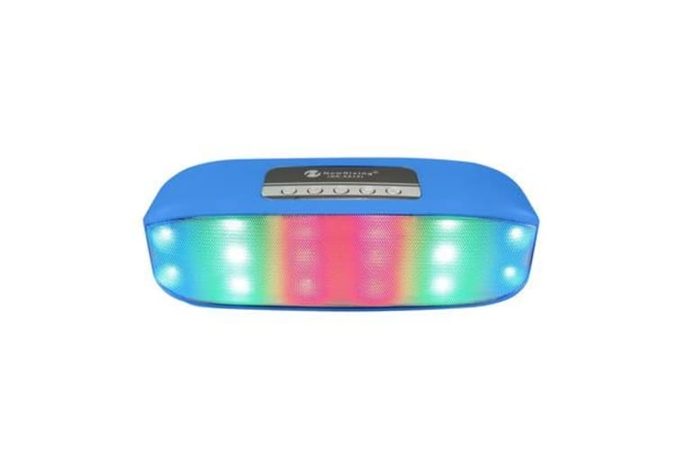 Bluetooth V2.1+Edr Wireless Speaker Led Party Light Portable Usb Tf Black