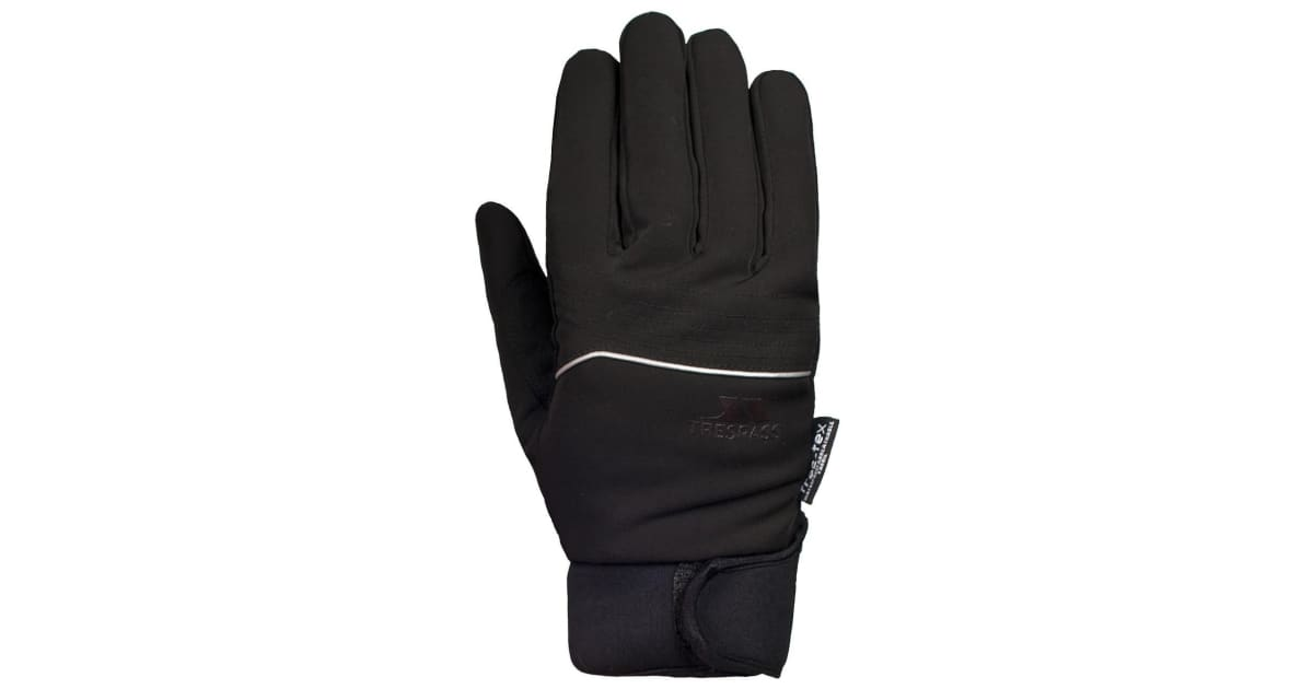 Trespass Cruzado Men Black Waterproof Gloves Winter Reflective Neoprene Mitts
