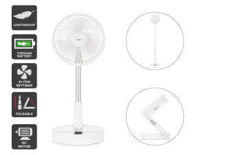 Kogan Rechargeable Desk and Floor DC Motor Fan