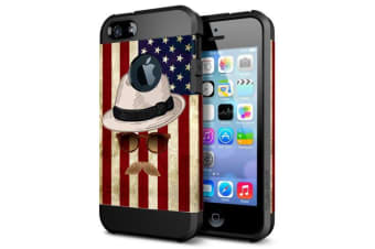 For iPhone SE 5S 5 Case Straw Hat  Flag TPU Hard Armour Shielding Cover