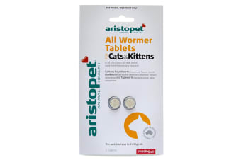 All Wormer Tablets for Cats & Kittens 5kg - 2 Tabs (Aristopet)
