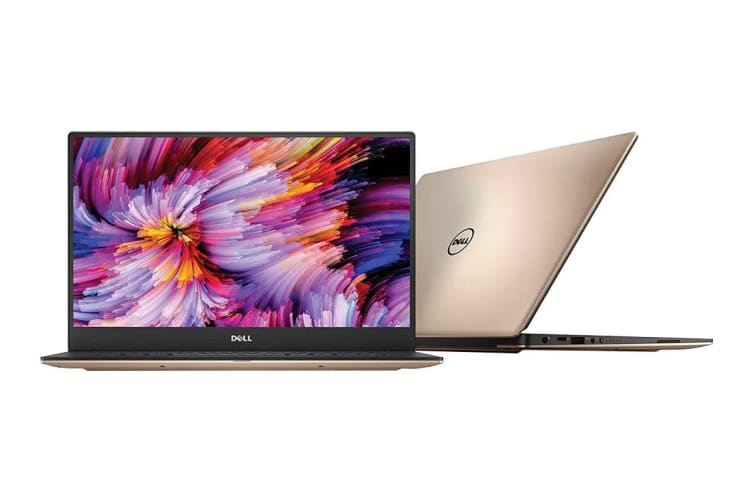 "Dell XPS 13 9360 13.3"" QHD Touch Screen Laptop (i7-7500U, 8GB RAM, 256GB, Rose Gold) - Certified Refurbished"
