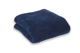 Apartmento Diamond Fleece Blanket (Indigo)