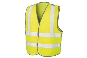 Result Mens Core Safety Hi Viz Vest (Fluorescent Yellow) (L/XL)