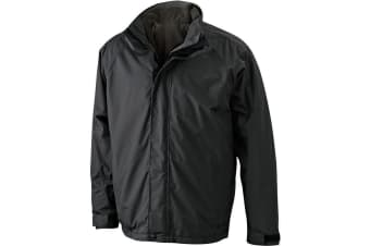 James and Nicholson Mens Two-In-One Jacket (Black/Black) (XL)
