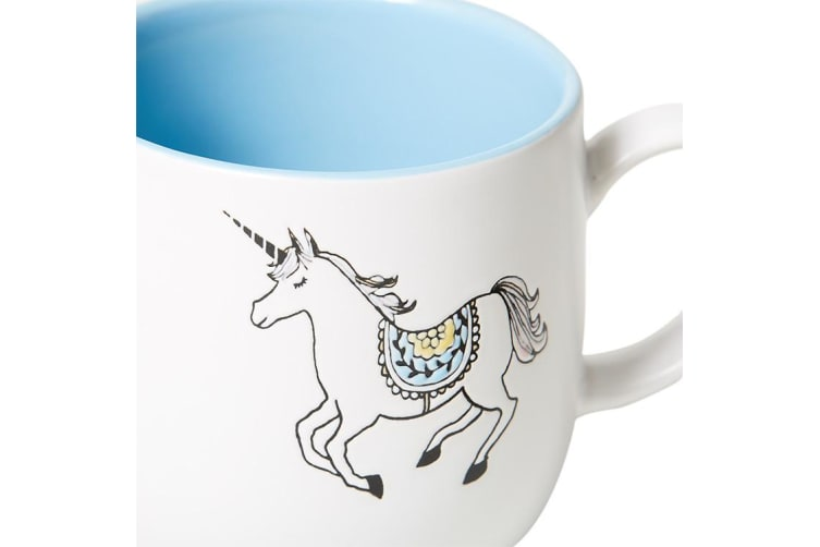 Salisbury & Co Unicorn Mug 360ml Blue
