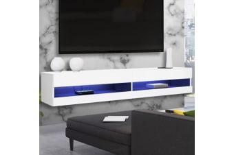 Luxo Vincent 150 cm LED Floating Entertainment Unit - White