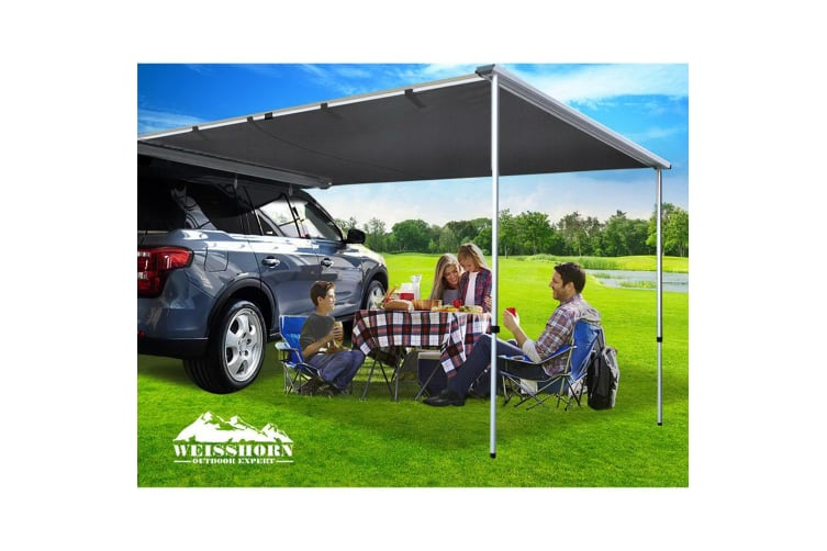 Weisshorn 2.5MX3M Car Side Awning Roof Rack Tent Shade Camping 4X4 4WD Covers