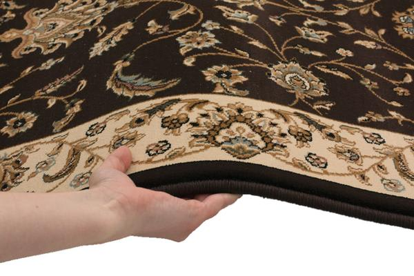 Stunning Formal Floral Design Rug Brown 300x80cm