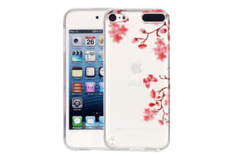 For iPod Touch 5 Case Elegant Slim Maple Leaves Transparent Protective Cover
