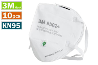 10pcs 3M 9502+ KN95 Particulate Anti Dust Face Mouth Mask