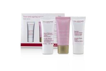 Clarins Multi-Active 30+ Anti-Ageing Skincare Set: Gentle Refiner 30ml + Multi-Active Day Cream 30ml + Beauty Flash Balm 30ml 3pcs