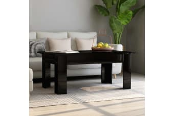 vidaXL Coffee Table High Gloss Black 100x60x42 cm Chipboard