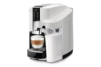 Saeco Bravista Latte Plus Caffitaly Coffee Capsule Machine (White)