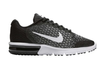Nike Women's Air Max Sequent 2 Running Shoe (Black/Dark Grey/White, Size 7 US)