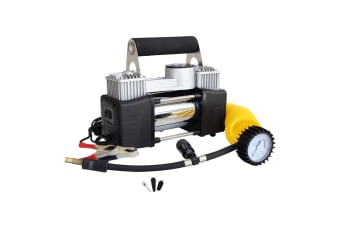 80L/MIN 12V Mini Portable Air Compressor - SILVER