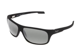 Maui Jim Island Time 2372M Matte Black Rubber Mens Womens Sunglasses Polarised