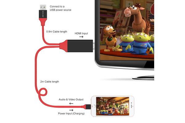Lightning Pin To Hdmi 1080P Adapter Cable Iphone Ipad Audio Video Lead Tv Usb